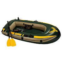 Лодка 68347 (2шт) в наборе насос весла 236-114-41 см