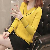Тонкий свитер, 4 цвета, фото 1