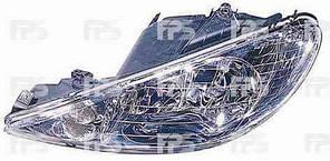 Фара передняя для Peugeot 206 '98-06 левая (DEPO) под электрокорректор