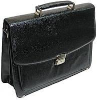 Мужской портфель из эко кожи под змею черный B7808 black, фото 1