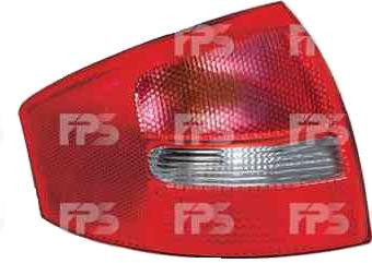 Фонарь задний для Audi A6 седан '01-05 левый (DEPO) зад ход красно-белый