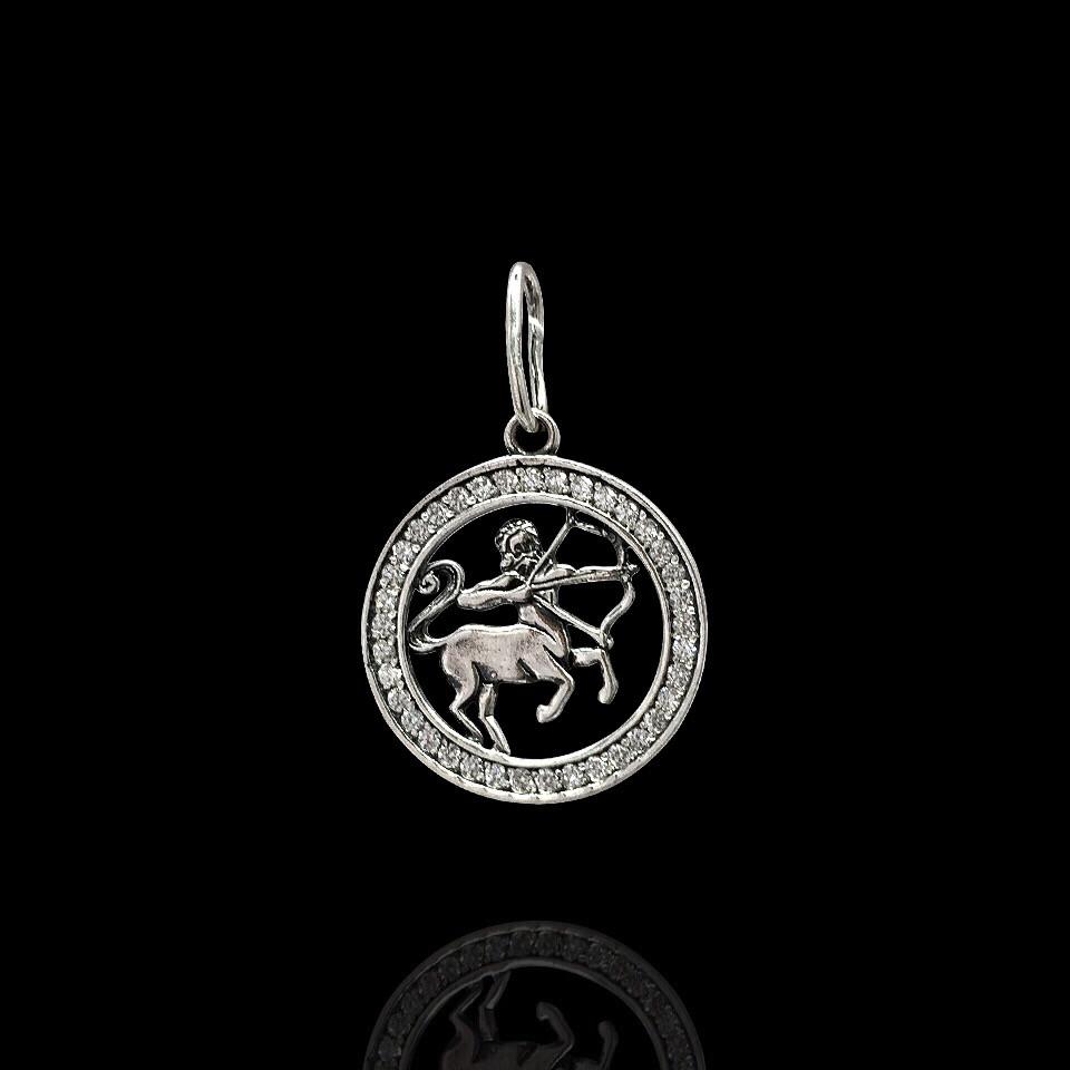 Серебряная подвеска, знак зодиака, Стрелец
