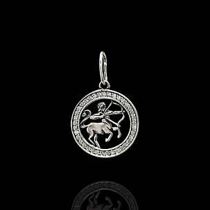 Серебряная подвеска, знак зодиака, Стрелец, фото 2