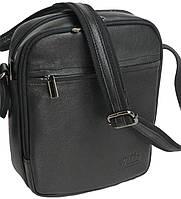Вертикальная кожаная мужская сумка Always Wild 8021 NDM черная
