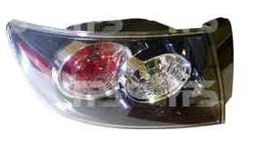 Фонарь задний для Mazda 3 седан '04-09 правый (DEPO) внешний прозрачный отражатель черный рассеиатель белый