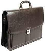 Портфель из эко кожи на 4 отдела, Jurom Польша 0-41-112 коричневый, фото 1