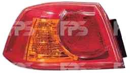 Фонарь задний для Mitsubishi Lancer X '07- правый (DEPO) внешний, красный