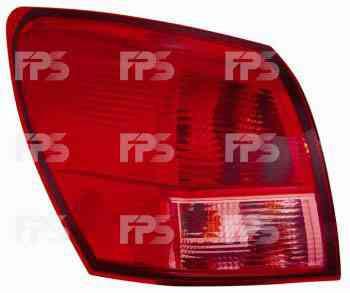 Фонарь задний для Nissan Qashqai'06-09 правый (DEPO) внешний