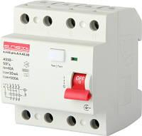 Выключатель дифференциального тока e.rccb.pro. A.4.40.30. 4p,40А,30mA тип А