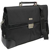 Мужской деловой портфель VERSO B056 черный, фото 1