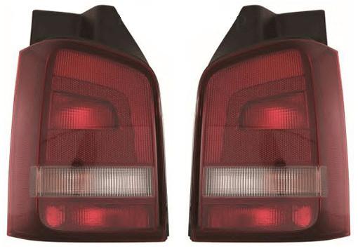 Фонарь задний для Volkswagen T5 '10- левый (DEPO) 1 дверь, темно-красный
