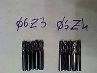 Твердосплавные концевые фрезы 6 мм ГОСТ 18372-73 монолит, фото 1