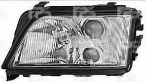 Фара передняя для Audi A6 '94-98 левая (HELLA) механическая/под электрокорректор