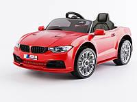 Детский электромобиль BMW T-7633, красный (белый). Колеса EVA, MP3, свет.