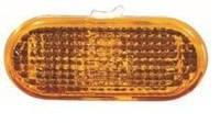 Указатель поворота на крыле Seat Altea '04- левый/правый, желтый (рифленый)