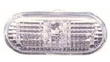 Указатель поворота на крыле Volkswagen Amarok '10- левый/правый, белый (рифленый, с белый вставкой) (DEPO)