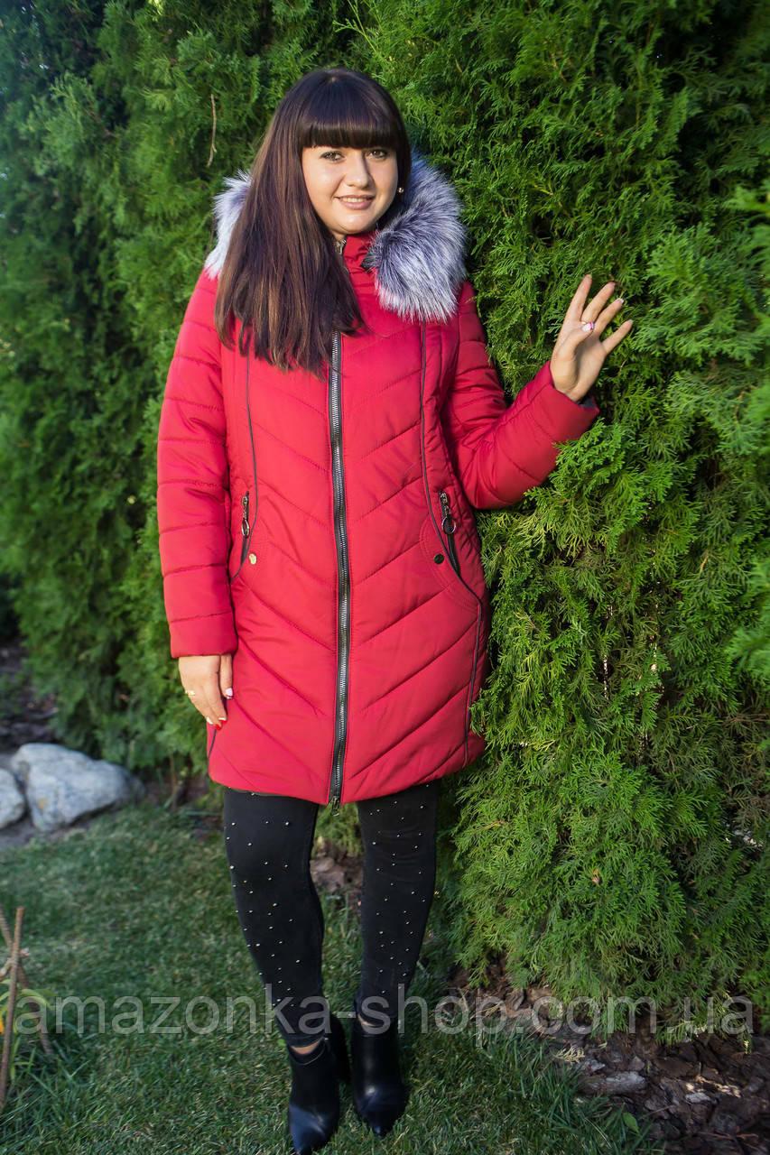 Женское зимнее пальто больших размеров 2018-2019 - (модель кт-272 ... 6184b73764f9d