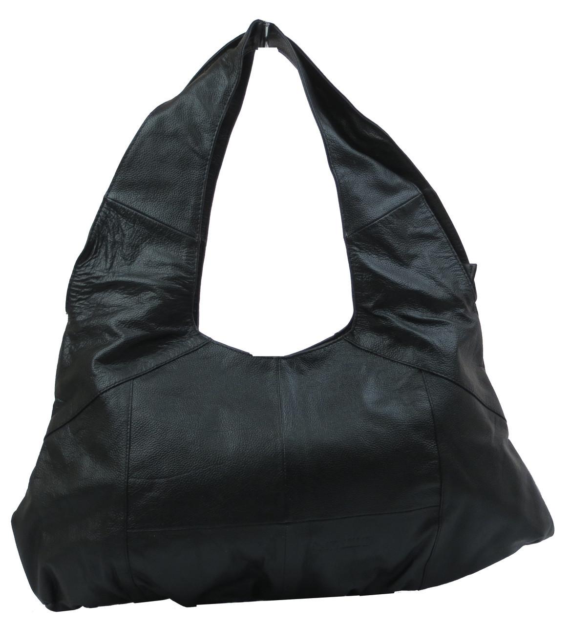 Кожаная женская сумка Сavaldi CCT-10390 черная