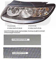 Фара передняя для Hyundai Santa Fe '10-12 CM левая (DEPO) механическая/под электрокорректор