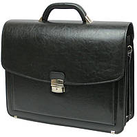 Портфель из кожзаменителя Jurom Польша 0-36-111 черный, фото 1