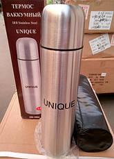 Термос металлический UN-1004, 1 л с чехлом, фото 2