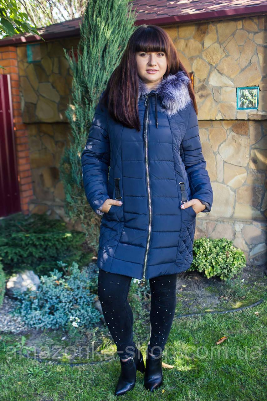 Зимнее женское пальто батальных размеров 2018-2019 - (модель кт-270)