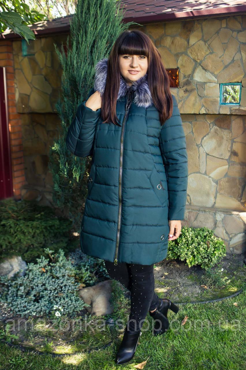 Длинное женское пальто на зиму 2018-2019 - (модель кт-271)