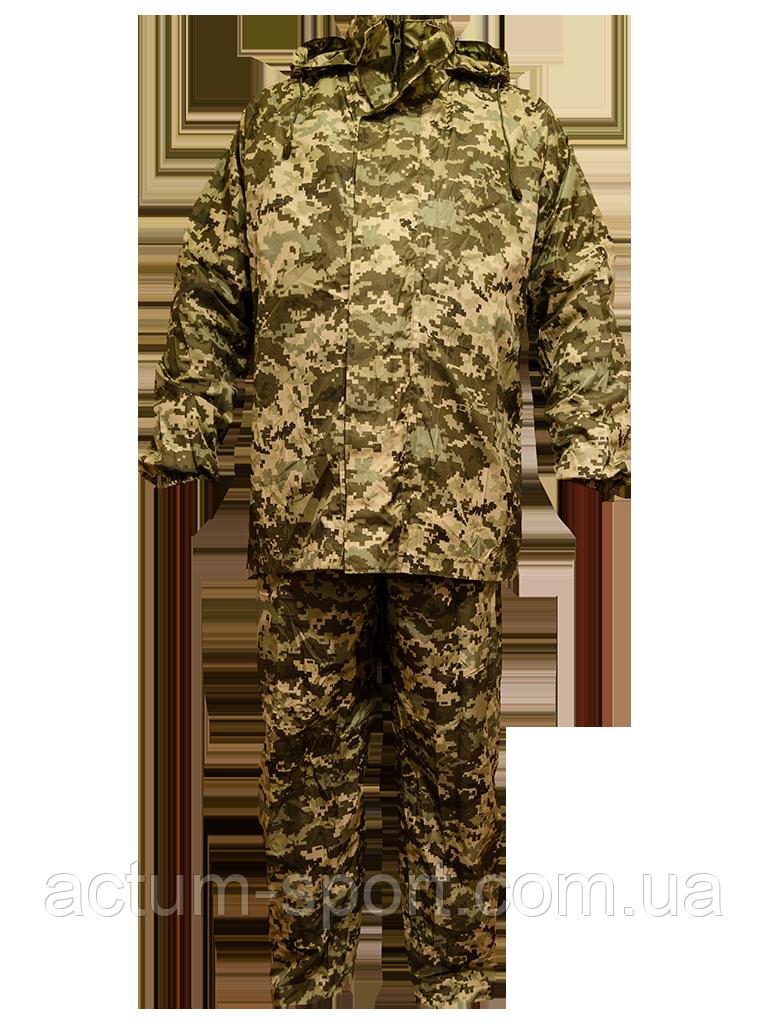 Влагозащитный мужской костюм для охоты и рыбалки Pixel KVVD камуфляж XL