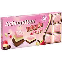 """Шоколад Schogetten Trilogia Fruit - Молочный, белый фруктовый шоколад """"Трилогия Фрукт"""""""