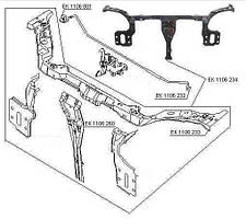 Ремчасть панели передней верхняя (горизонтальная часть)