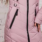 Удлиненное женское пальто 2018-2019 - (модель кт-294), фото 4