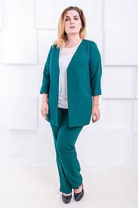 Женский офисный костюм большого размера Джуди 52-60 р