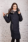 Качественное женское пальто с натуральным мехом 2018-2019 - (модель кт-338), фото 2