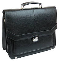Мужской портфель из эко кожи Arwena Польша TM0009 черный, фото 1