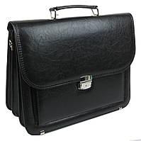 Мужской портфель из эко кожи Arwena Польша TM0002 черный, фото 1