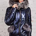 Стильное женское пальто с натуральным мехом - 2019 - (модель кт-329), фото 3