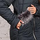 Стильное женское пальто с натуральным мехом - 2019 - (модель кт-329), фото 9