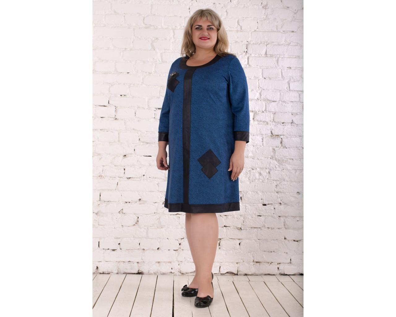 ae7b2ee54962aea Платье Паола 58-66 джинс, цена 645 грн., купить в Харькове — Prom.ua  (ID#766157442)