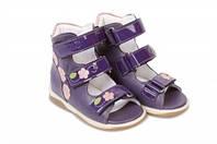 Босоножки детские. Ортопедическая обувь MEMO, модель VICKY purple (22-29)