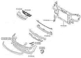Шина переднего бампера широкая нижняя