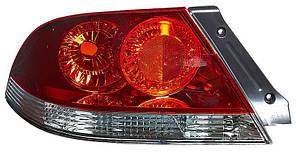 Фонарь задний для Mitsubishi Lancer IX '04-09 левый (DEPO) красно-белый