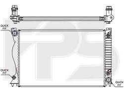 Радиатор охлаждения AUDI A6 05-11 (C6)