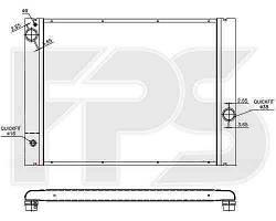 Радиатор охлаждения BMW 7 (E65 / E66) 01-08