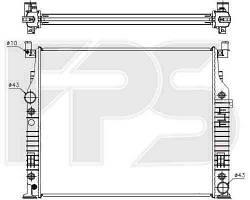 Радиатор MERCEDES_164 05-11 (GL-CLASS) SUV/164 05-11 (ML-CLASS) SUV