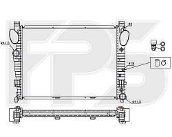 Радиатор MERCEDES_220 98-02 (S-CLASS)/220 02-05 (S-CLASS)
