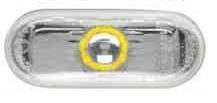 Указатель поворота на крыле Seat Leon '05-12 левый/правый, дымчатый (с желтой вставкой) (DEPO)