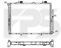 Радиатор MERCEDES_210 99-02 (E-CLASS)