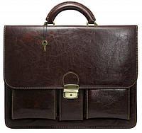 Мужской портфель из эко кожи 4U Cavaldi 10-EX brown