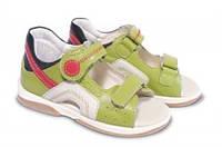 Босоножки детские. Ортопедическая обувь MEMO, модель SAPPHIRE, св.-зеленые (22-26)