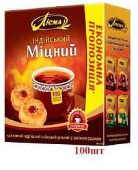 Чай Лисма чёрный ''Крепкий'' индийский 100шт